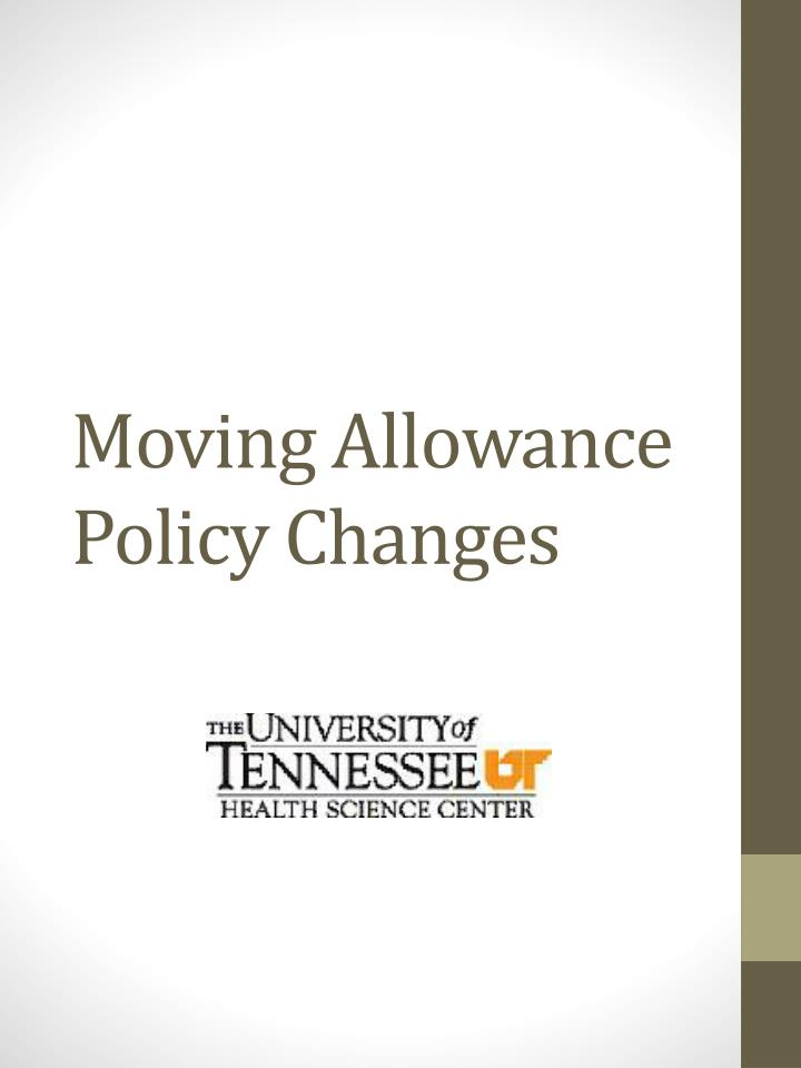 moving allowance policy changes