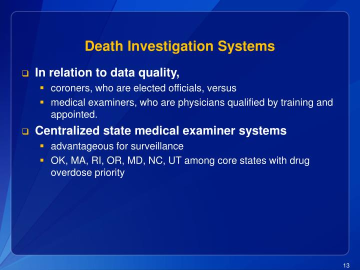 Death Investigation Systems