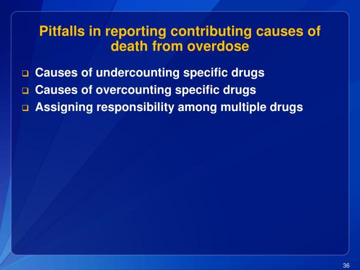 Pitfalls in reporting contributing causes of death from overdose