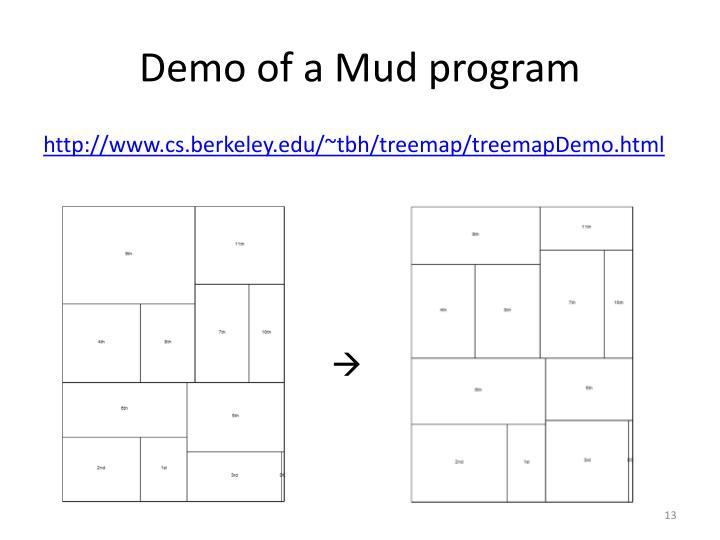 Demo of a Mud program