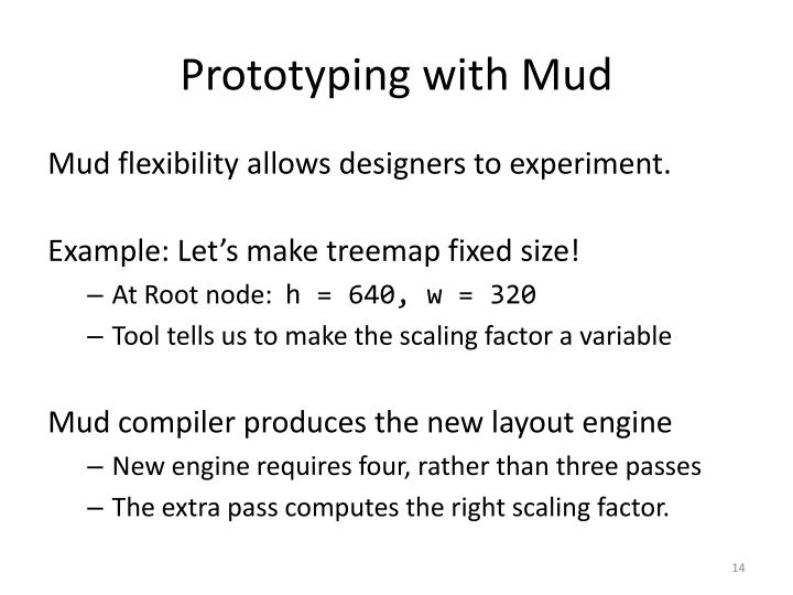 Prototyping with Mud