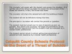 colquitt county schools protocol in the event of a threat of suicide1