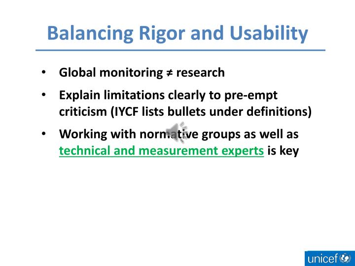 Balancing Rigor and Usability