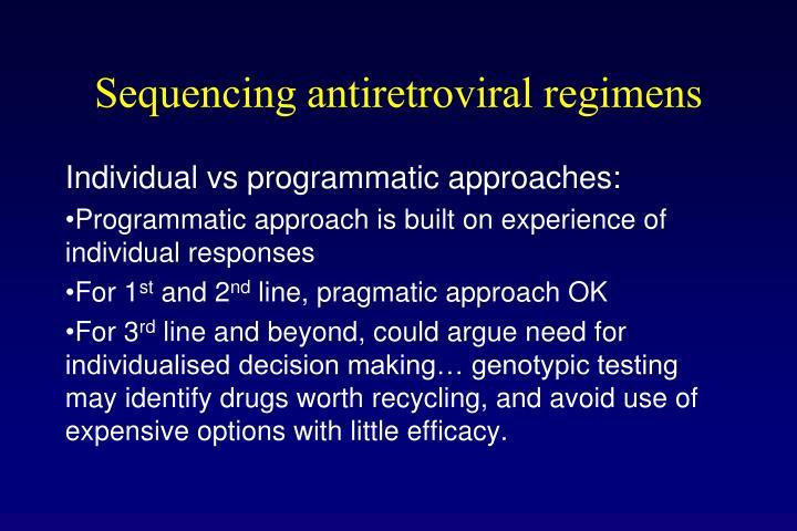 Sequencing antiretroviral regimens