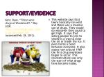 support evidence1