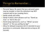 things to remember debbaudt 2005