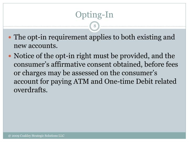 Opting-In
