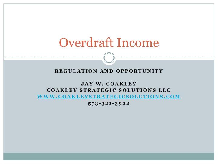 Overdraft income