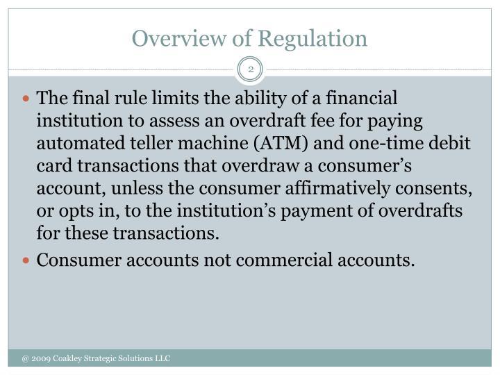 Overview of regulation