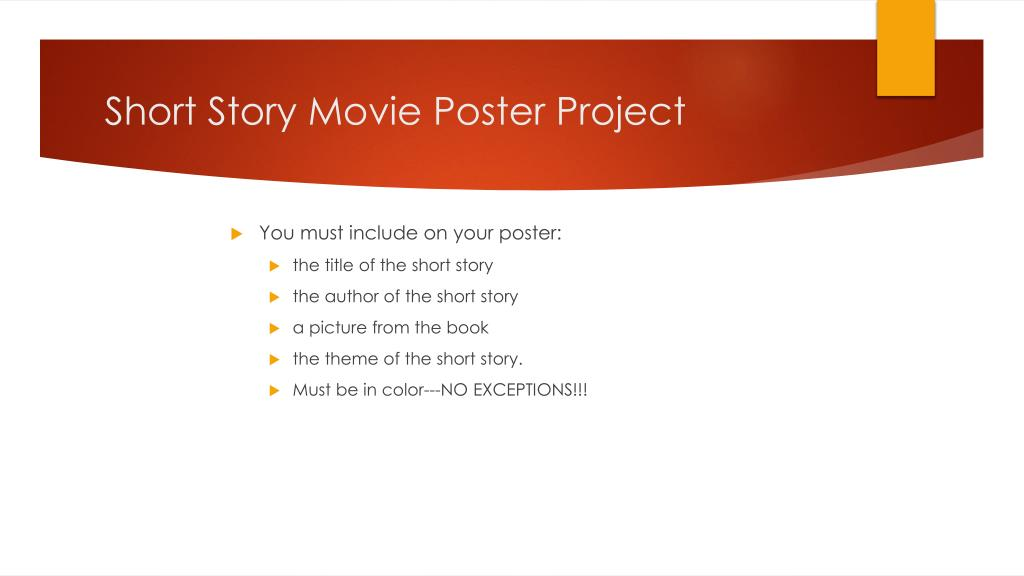 PPT - Short Story Movie Poster PowerPoint Presentation ...