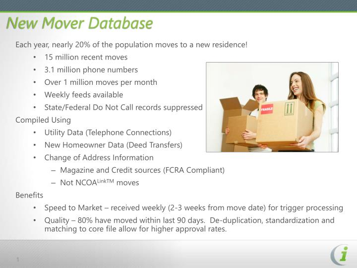 New mover database