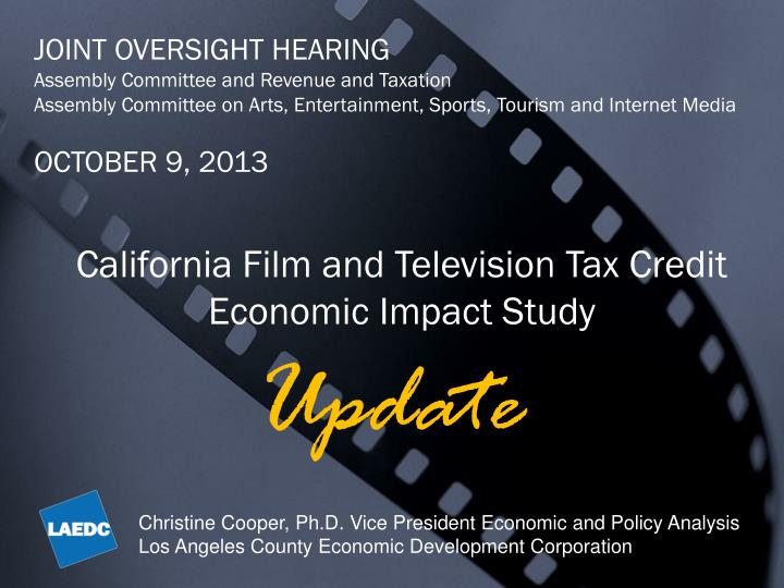 JOINT OVERSIGHT HEARING