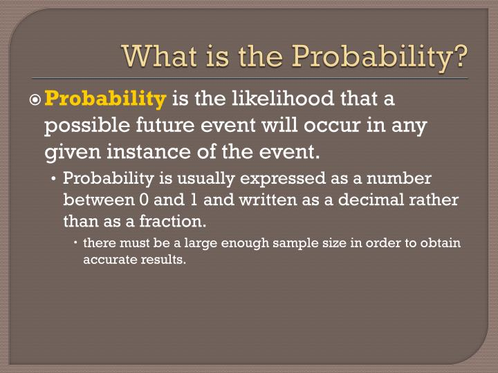 What is the Probability?