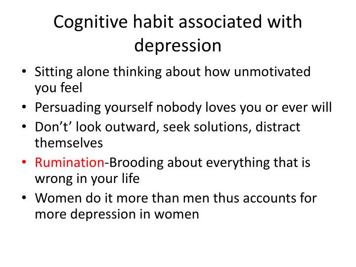 Cognitive habit associated with depression