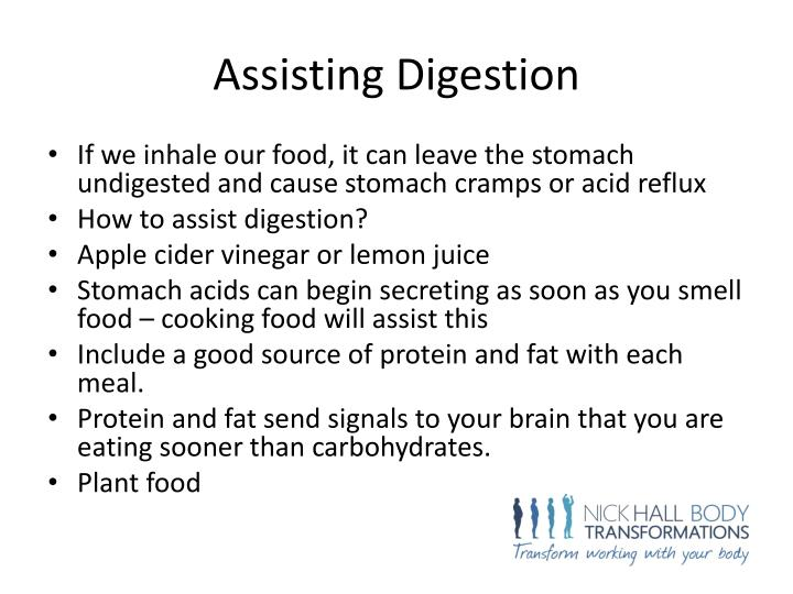 Assisting Digestion