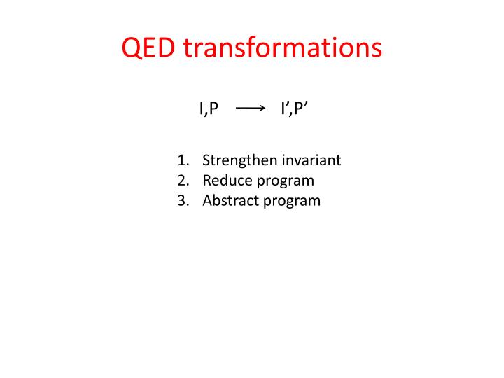 QED transformations
