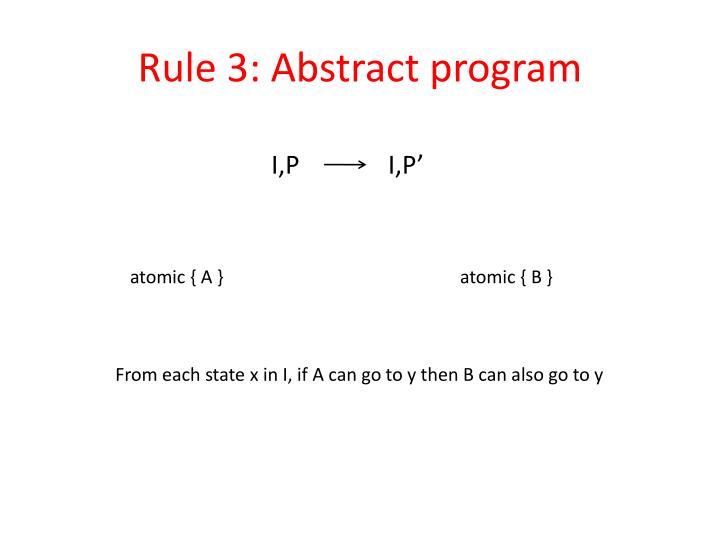Rule 3: Abstract program
