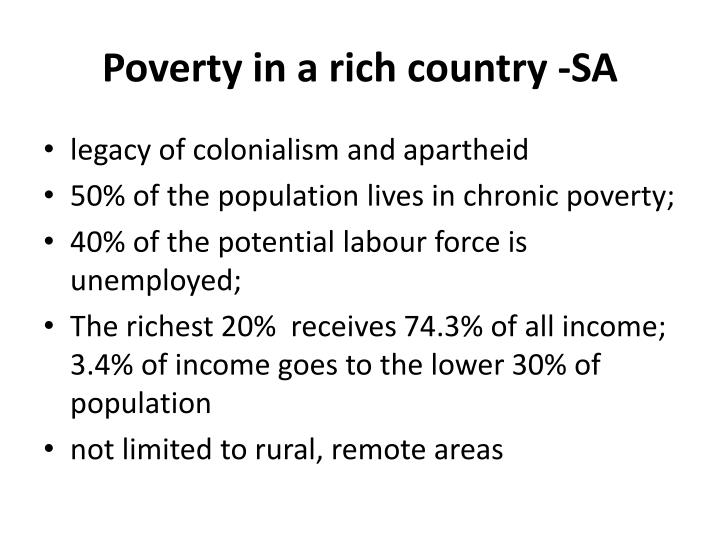 Poverty in a rich country