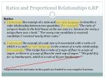 ratios and proportional relationships 6 rp