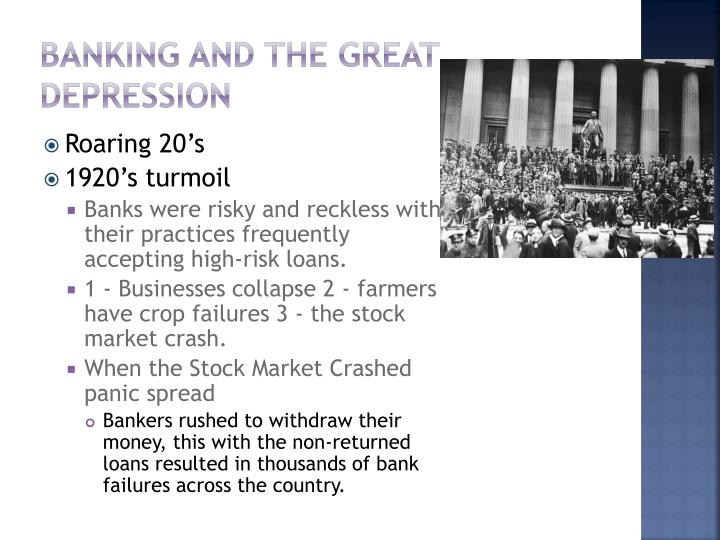 Banking and the great depression