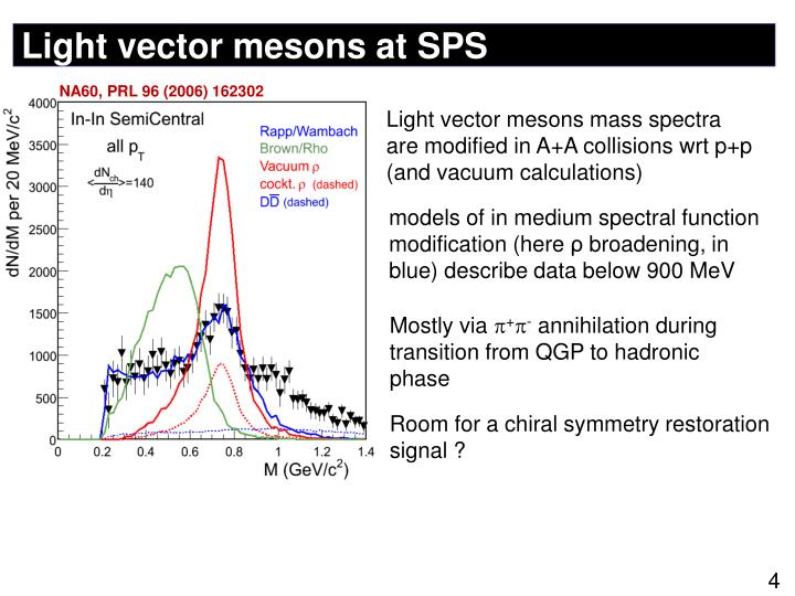 Light vector mesons at SPS