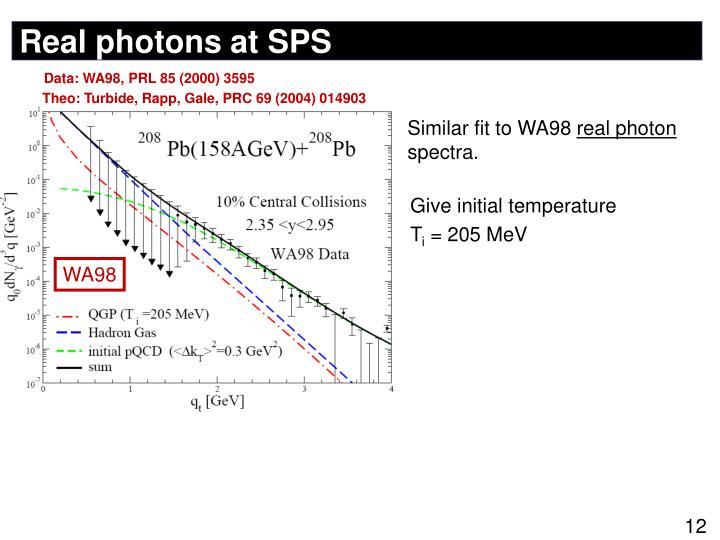 Real photons at SPS