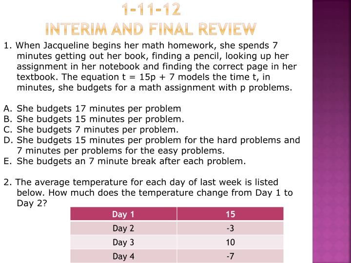 1 11 12 interim and final review