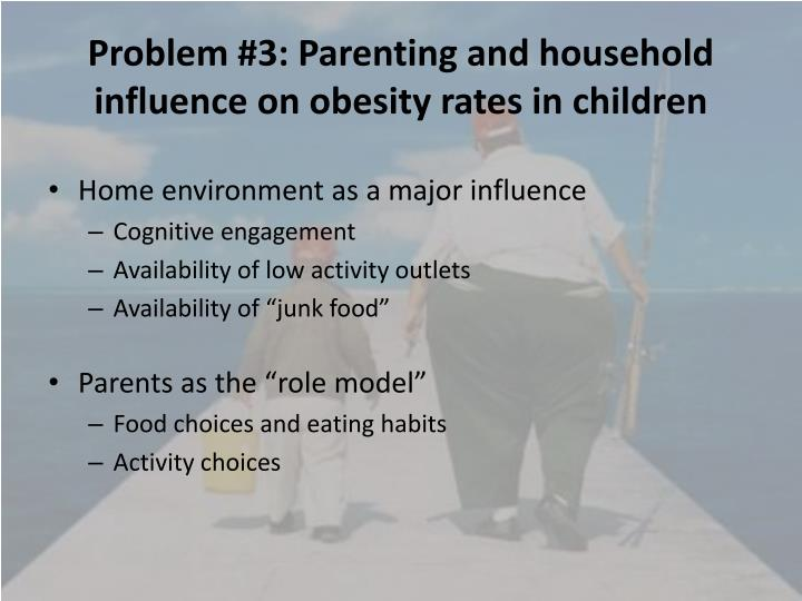 Problem #3: Parenting and household influence on obesity rates in children