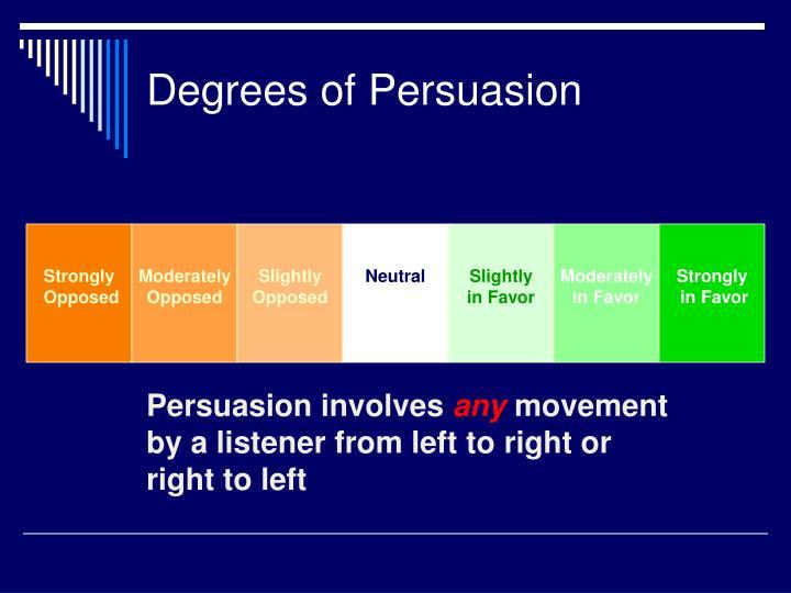 Degrees of persuasion
