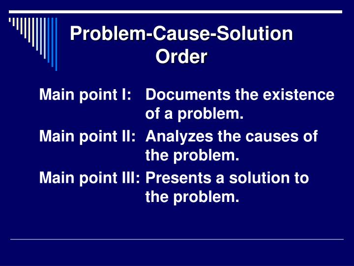 Problem-Cause-Solution