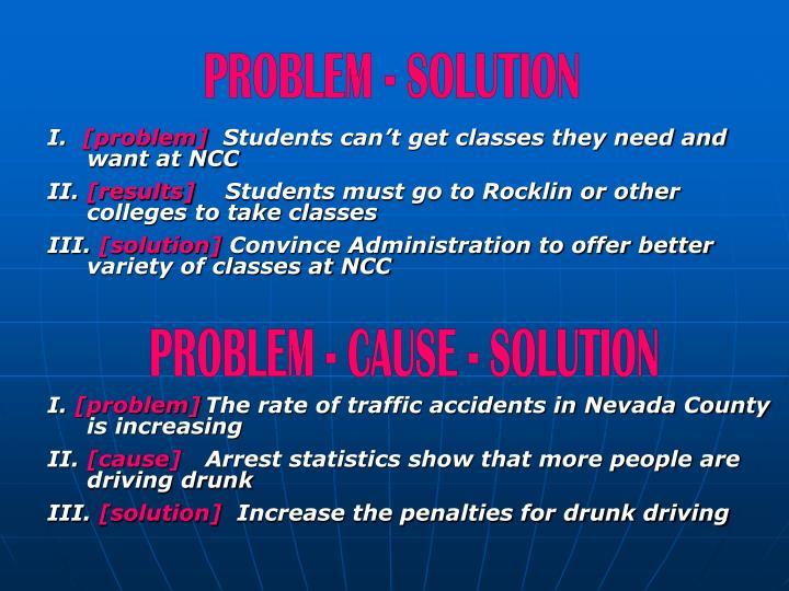 PROBLEM - SOLUTION