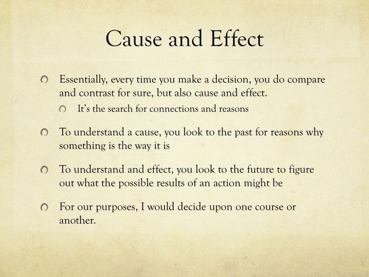 Cause and effect1