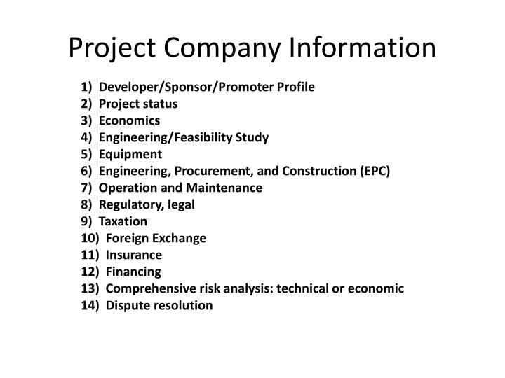 Project Company Information