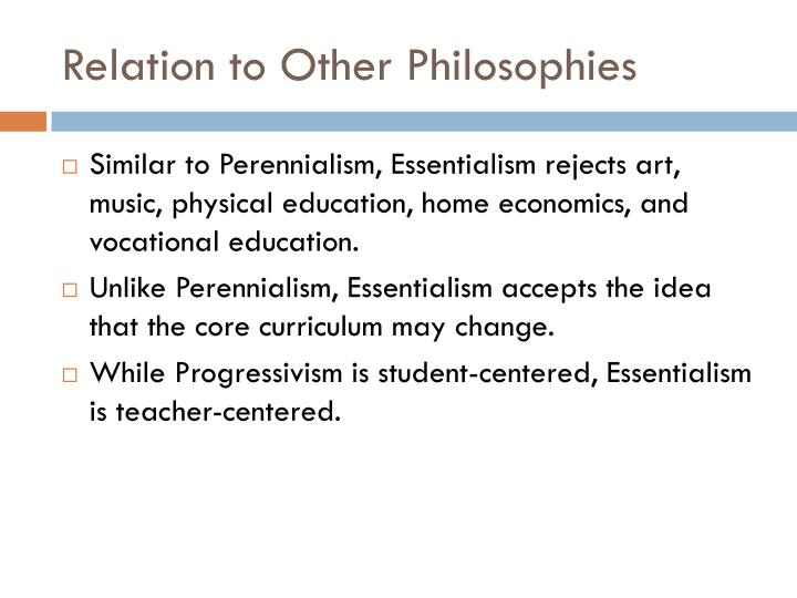 Relation to Other Philosophies