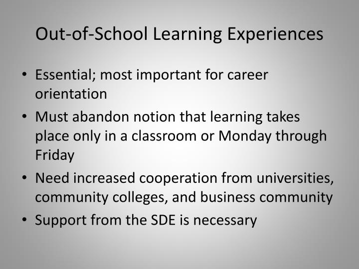 Out-of-School Learning Experiences
