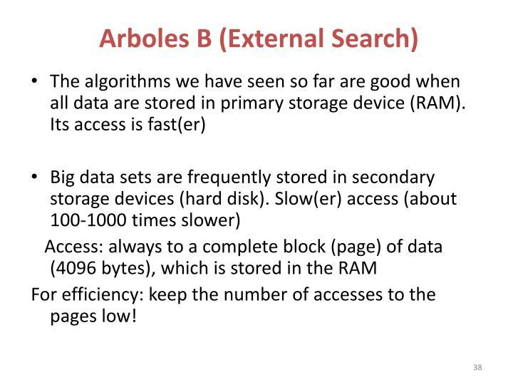 Arboles B (External Search)