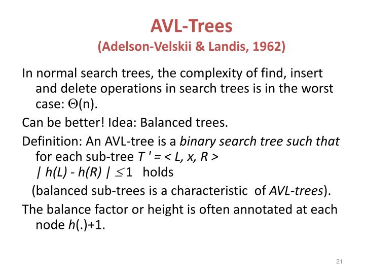 AVL-Trees
