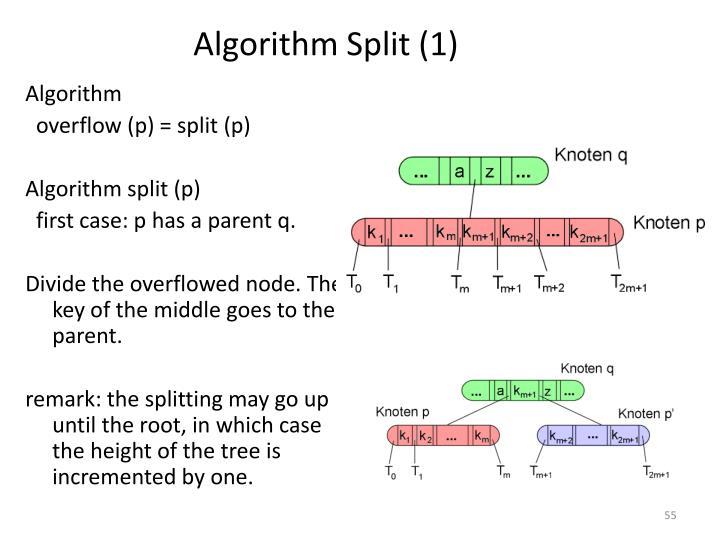 Algorithm Split (1)