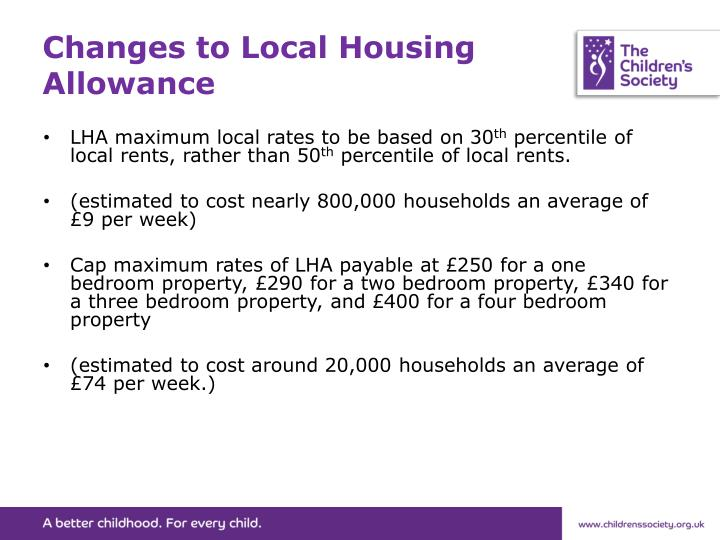 Changes to Local Housing Allowance