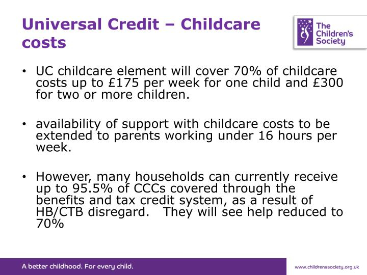 Universal Credit – Childcare costs