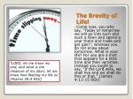 the brevity of life