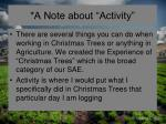 a note about activity