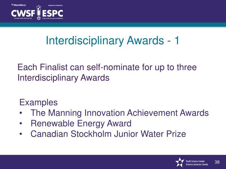 Interdisciplinary Awards - 1