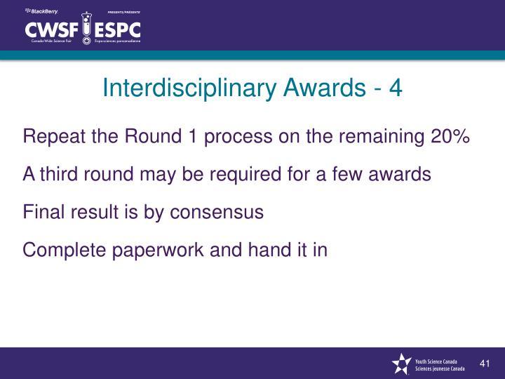 Interdisciplinary Awards - 4