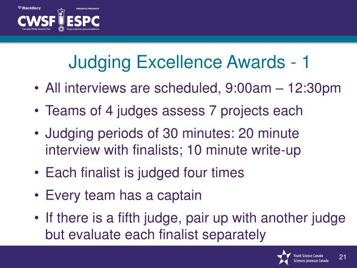Judging Excellence Awards - 1
