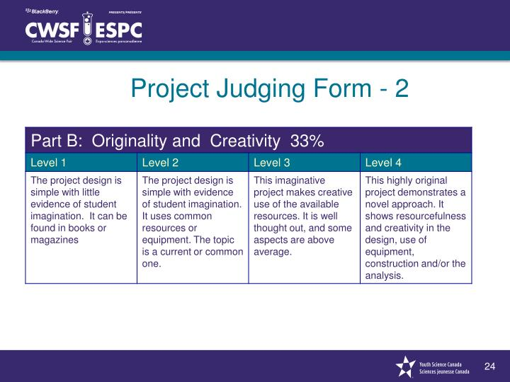 Project Judging Form - 2