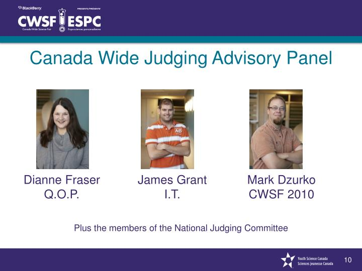 Canada Wide Judging Advisory Panel