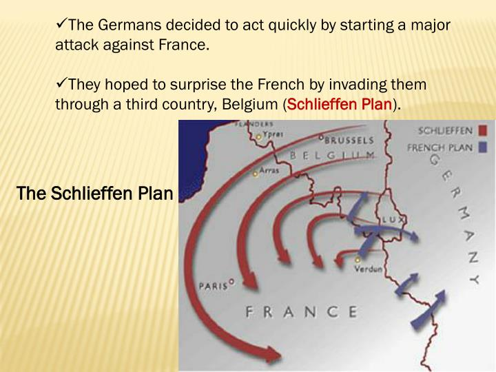 The Germans decided to act quickly by starting a major attack against France.