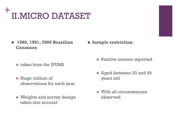II.MICRO DATASET