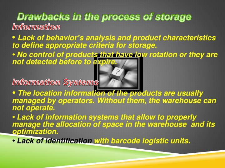 Drawbacks in the process of storage1